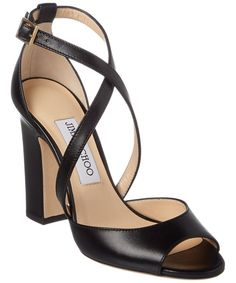 Jimmy Choo Jimmy Choo Carrie 100 Strappy Heeled Leather Sandal (432221601) | Bluefly.Com