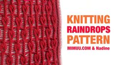 Knitting pattern RAINDROPS