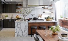 marble in kitchen decor