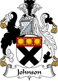 Johnson Family Crest English Coat of Arms
