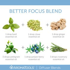 If you need to focus better at work or school, try diffusing this focus diffuser blend that includes petitgrain essential oil: