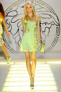 SO WISH I could afford this, Versace Spring Collection 2012