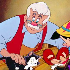 *MR. GEPPETTO, FIGARO & PINOCCHIO ~ Pinocchio, 1940