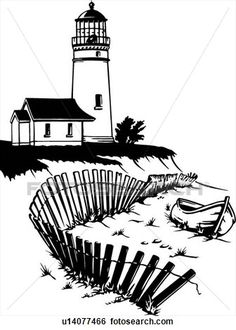 illustration, lineart, lighthouse, nautical, marine, beacon View Large Clip Art Graphic