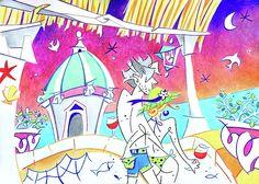 Summer Holidays Love Italy - Relax Enjoy Life Painting by Arte Venezia