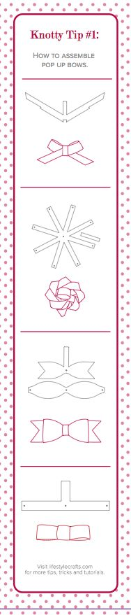 How to Assemble Pop-Up Bows {Lifestyle Crafts die cuts}