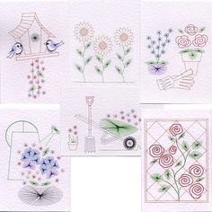 Stitching Cards Value Pack No. 16: Garden