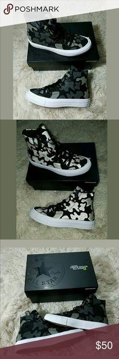 Camp/metallic chuck taylors! Bought off posh, brand new never worn! Unisex size men 5/ women 7 Converse Shoes Sneakers