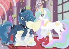 elenafreckle fight pillow pillow_fight princess_celestia princess_luna