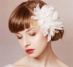 Silk wedding hair flower