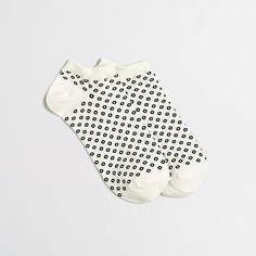 Open dot tennie socks : Socks & Tights | J.Crew Factory