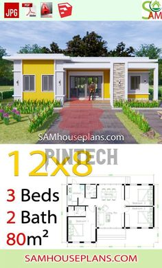Little House Plans, My House Plans, House Layout Plans, Family House Plans, Bedroom House Plans, House Layouts, Bungalow Haus Design, Modern Bungalow House, House Construction Plan