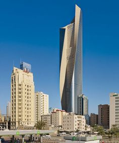 Al Hamra Firdous Tower  Architect: Skidmore, Owings & Merrill  Kuwait City, Kuwait