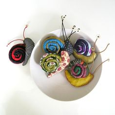 snail brooches by tressByGomez