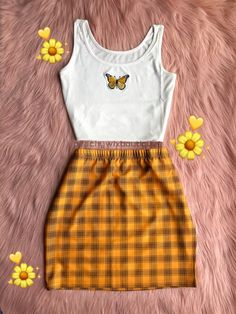 (Version two) This is the second post for the Olivia skirts since we have so many ! These are so adorable and comfy and stylish! Matches with. Cute Comfy Outfits, Cute Girl Outfits, Retro Outfits, Girly Outfits, Stylish Outfits, Stylish Clothes, Skirt Outfits, Vintage Outfits, Girls Fashion Clothes