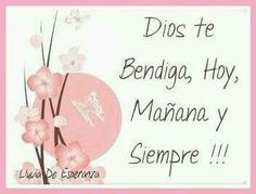 DIOS TE BENDIGA SIEMPRE | IMÁGENES SALUDOS TE BENDIGA... - IMÁGENES BONITAS ® 1001 fotos con frases Religious Images, Daughter Love, Dear God, Gods Love, Decoupage, Place Cards, Blessed, Place Card Holders, Messages