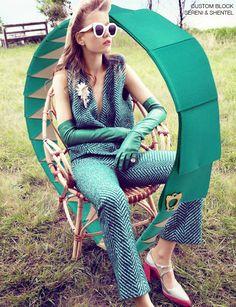 Headband inspired by The Future is Bright in Harper's Bazaar US October 2015