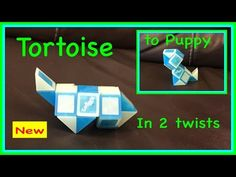 ▶ Rubik's Twist or Smiggle Snake Puzzle 2 in 1 Tutorial: How to make a Tortoise and Puppy Dog - YouTube
