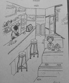 Curious. . . #study #drawing #sketch #doodling #random #illustration #art #pen #paper #instaart #iblackwork #artwork #astronaut #secret #admirer #girl #city #night #bar #coffee #coffeeshop #drink #machine #beverage #barista #street #moon #star #space...