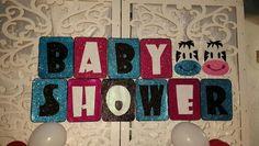 """Letras en goma eva """"Baby shower para mis mellizos Isabella y Augusto""""...tematica vaquitas"""