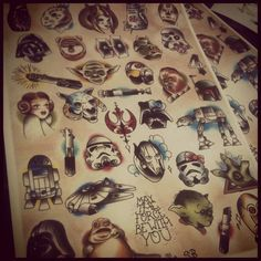 I want a sailor jerry styled star wars tattoo