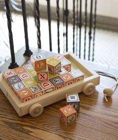Uncle Goose's Classic ABC Blocks with Pull Wagon is a timeless heirloom gift that is sure to be in the family for generations. Perfect for any little one or toddler learning the ABC's! Educational, yet fun toys from Makaboo are our favs!
