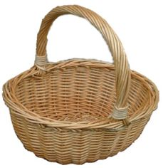 Full buff willow Childs oval wicker Hollander shopping basket. suitable for age 9+ children. Quality Baskets from Choice Baskets