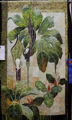 Patricia West, photo by Luana Rubin. Patchwork Quilting, Applique Quilts, Landscape Art Quilts, Tree Quilt, Quilt Art, Flower Quilts, Textile Fiber Art, Quilted Wall Hangings, Free Motion Quilting