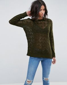 ASOS Sweater In Crochet In Oversized Fit - Multi