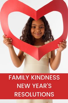 Make a plan for more kindness in the new year. Here's a great activity and guide for how to make family kindness new year's resolutions.