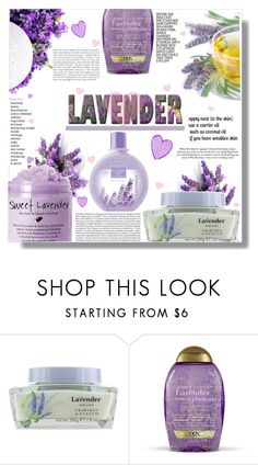 """""""Keep Calm & Carry LAVENDER"""" by xwafflecakezx ❤ liked on Polyvore featuring beauty, KAZ and Organix"""