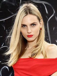Match your lipstick to your dress. It's a thing. Andreja Pejic's sophisticated, sexy look proves why.   allure.com