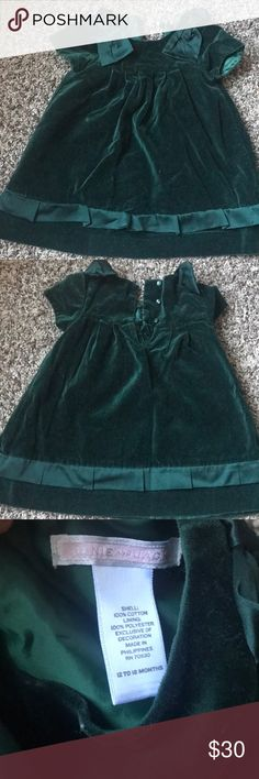 Beautiful green velvet dress Beautiful green velvet dress, perfect for the holidays. A Christmas collection from Janie and Jack Janie and Jack Dresses Formal