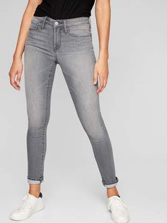 Athleta Sculptek Skinny Jean Grey Wash #fashion #style #love #shopping afflink