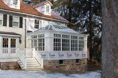 stone & board conservatory addition