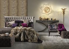 Roberto Cavalli Home..  I love to create these objects so that you can decorate your homes in the name of excess… of luxury