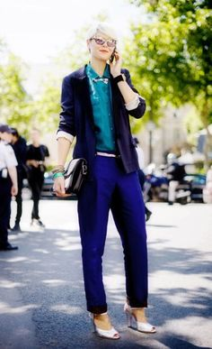 Elisa Nalin. another blazer and trousers combo that is love.