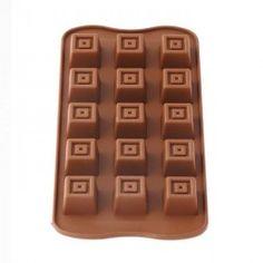 Forma de Silicone para Chocolate Gelo e Gelatina Quadrado