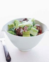 Caesar Salad with Meatballs--sign me up!