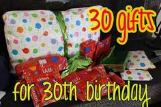 gift ideas: 30 presents for 30th birthday