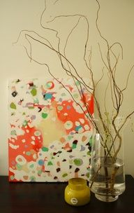 diy abstract painting on canvas