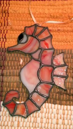 Stained Glass Sea Horse Sun Catcher by SunshineGlassworks on Etsy, $12.00