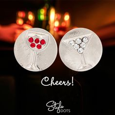 Cheers! The Wine & Martini Dots! #styledots