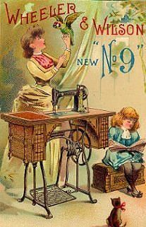 Wheeler and Wilson Number 9 Sewing Machine Trading Card