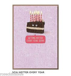 Funny humour #greeting card #cakes biscuits #birthday betting hotter every year,  View more on the LINK: http://www.zeppy.io/product/gb/2/311639318890/