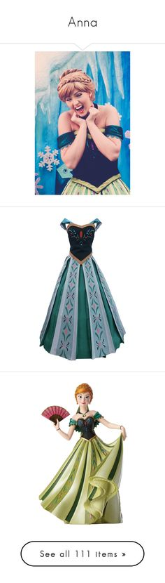 """""""Anna"""" by imnotariot ❤ liked on Polyvore featuring disney, princess, frozen, anna, costumes, dresses, cosplay, princess bride halloween costume, bridal costume and princess halloween costumes"""