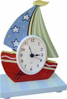 Nautical sailboat table clock and decor at Jack and Jill Boutique
