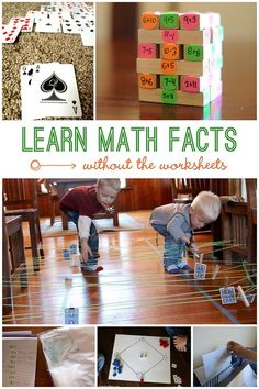Learning Math Facts Without the Worksheets