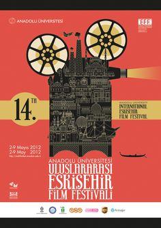 14TH INTERNATIONAL ESKISEHIR FILM FESTIVAL by Artnefer, via Behance