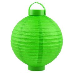 Green Hanging Paper Lantern Battery Operated